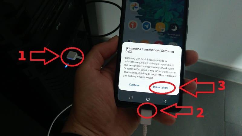 enviar pantalla celular samsung a ordenador.