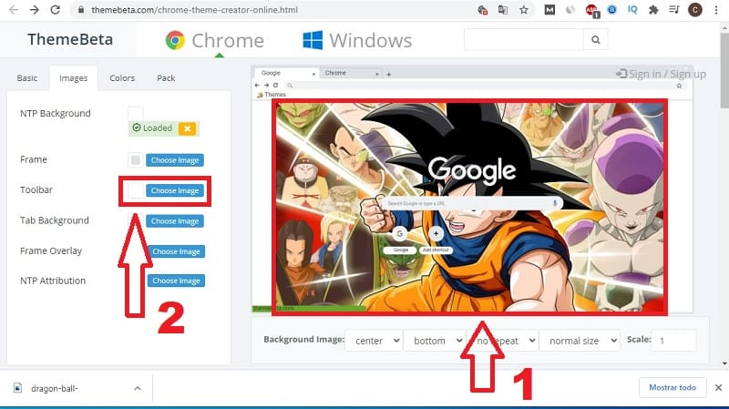 crear un tema en google chrome