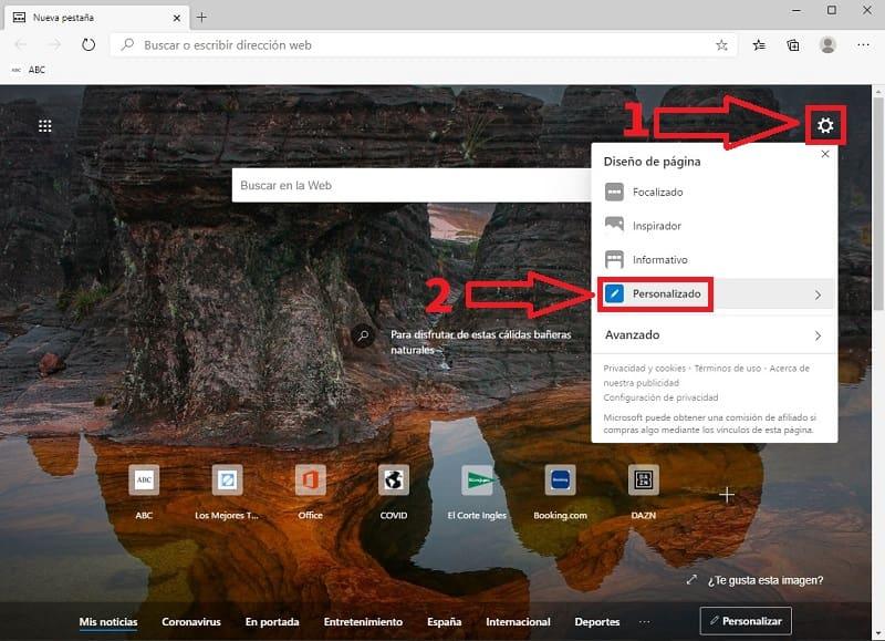 navegador edge.