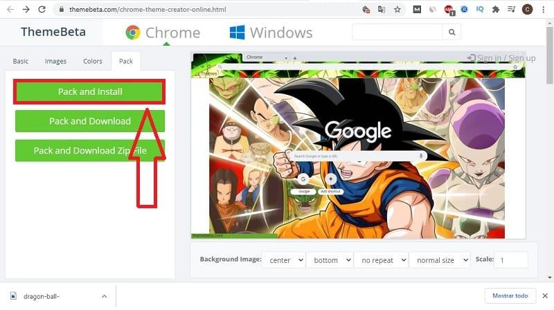 como crear mi tema para google chrome