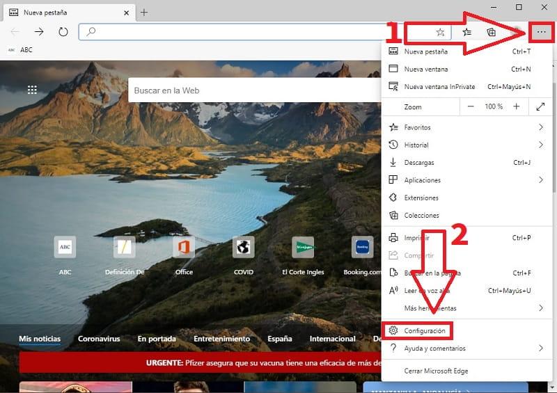 como quitar microsoft edge como navegador predeterminado