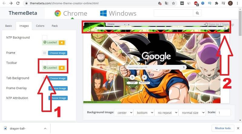 como crear un tema de google chrome