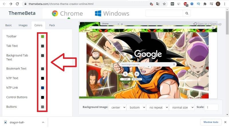 como crear un tema para google chrome