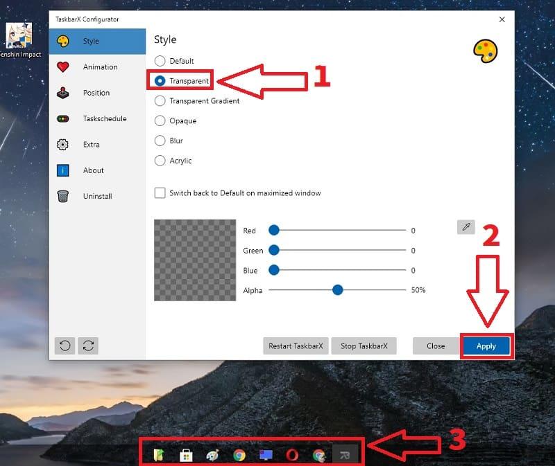 cambiar color barra de tareas windows 10