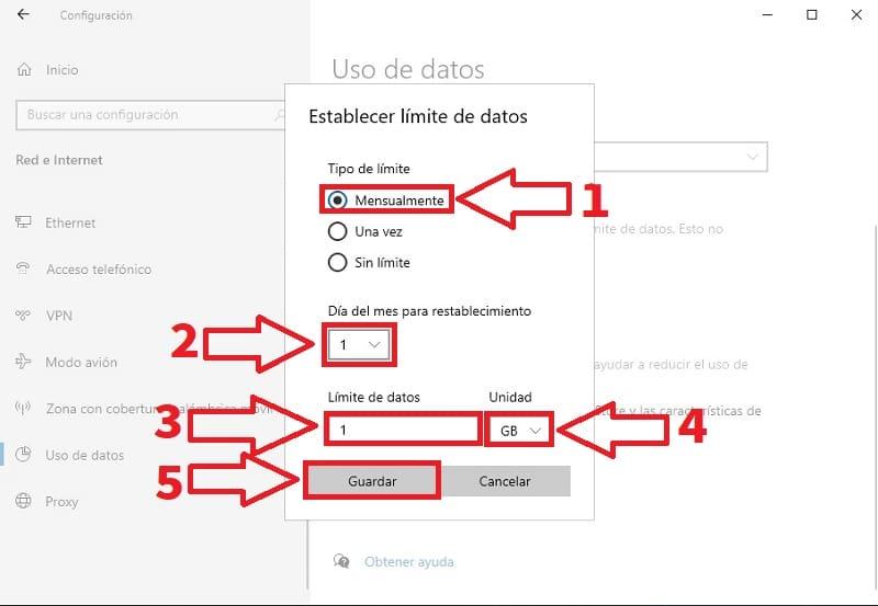 restringir datos en segundo plano windows 10.