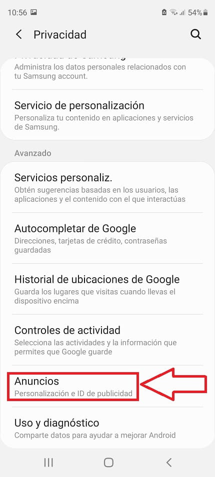 anuncios android.