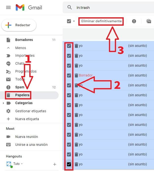 ordenar gmail por tamaño.