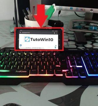conectar mouse y teclado en móvil.