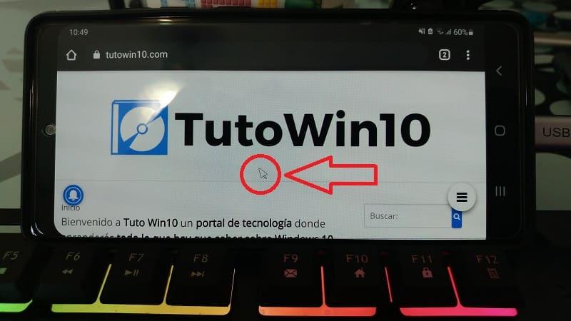 cursor del ratón en Android.
