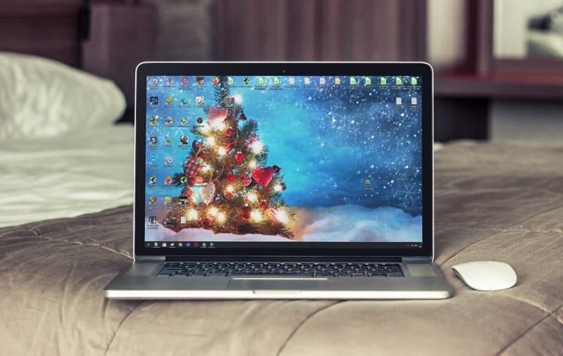 fondo de pantalla de arbol de navidad 3d animado