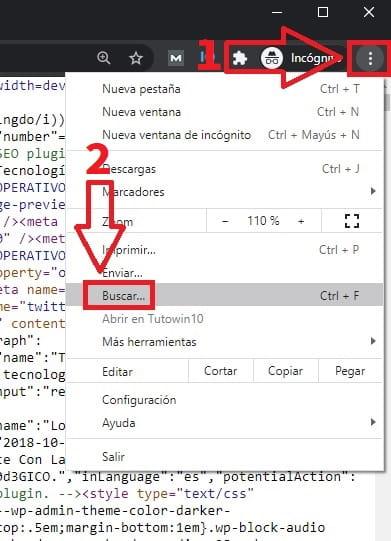 ver html de una pagina.