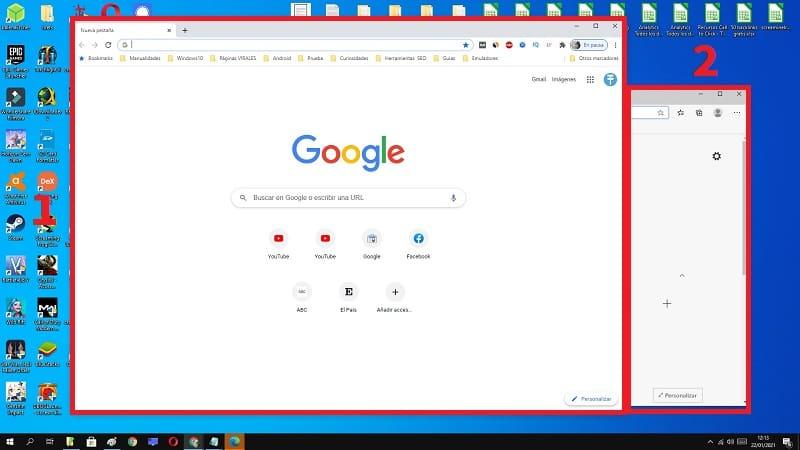 2 apps con 1 clic windows 10.