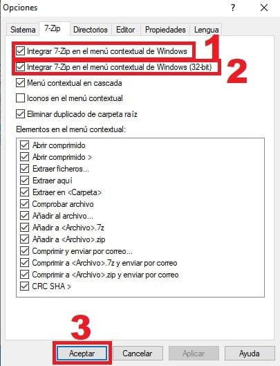no ver 7 zip en menu de windows 10.