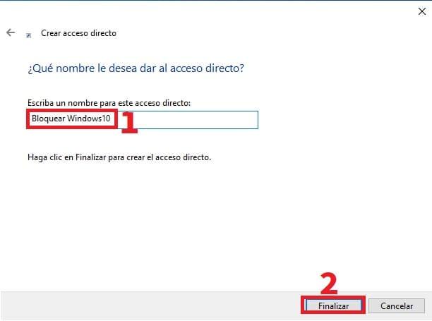 acceso directo.