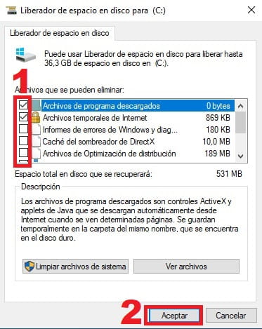 eliminar caché windows 10.