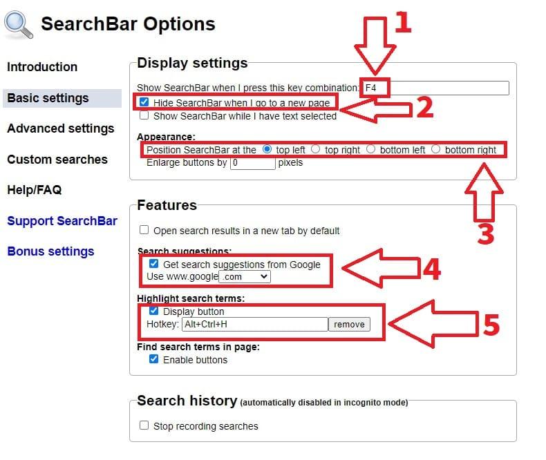 chrome search box.