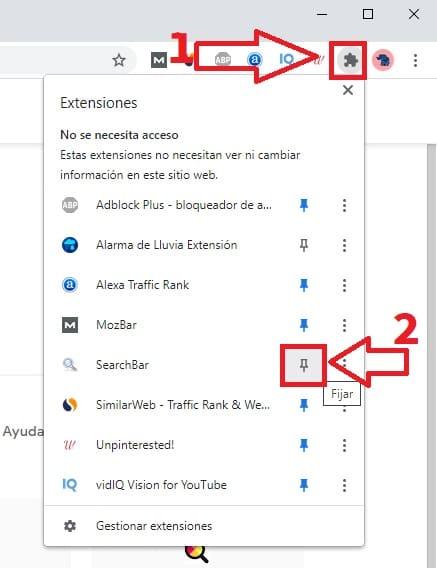 search box setting.