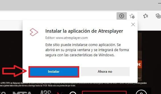 instalar app atresplayer win 10.