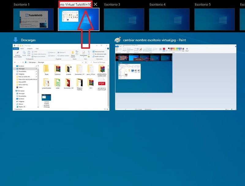modificar nombre de escritorio virtual en windows 10.