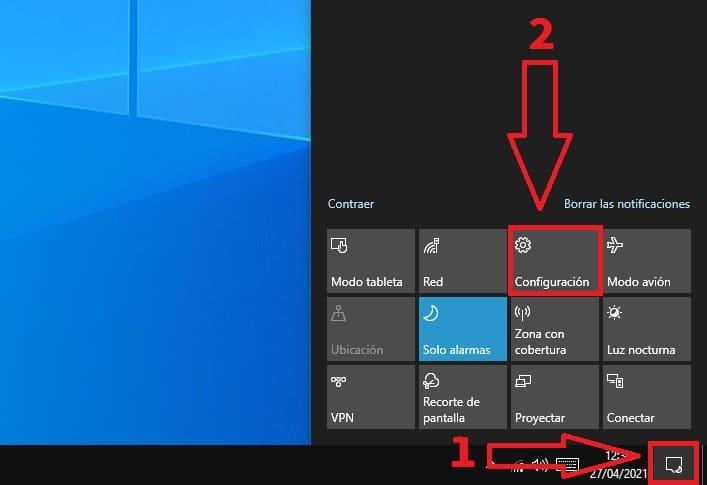 todas las formas de abrir la configuración de windows.
