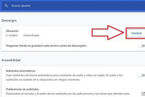 cambiar carpeta de google chrome.