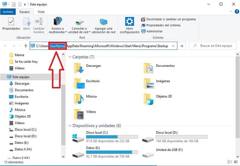 arrancar programas al inicio de windows 10.