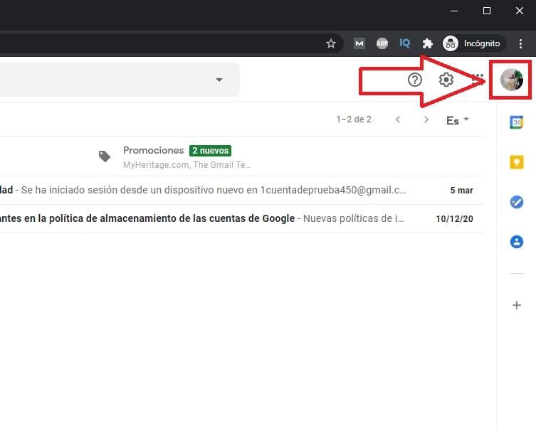 como cerrar sesion en gmail