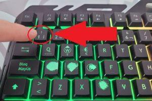 exclamacion teclado