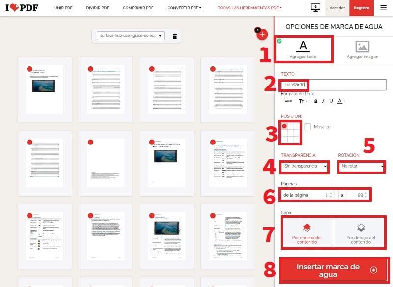 como poner una marca de agua en pdf