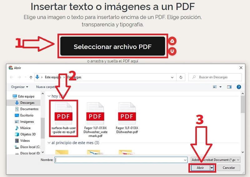 marca de agua en un pdf