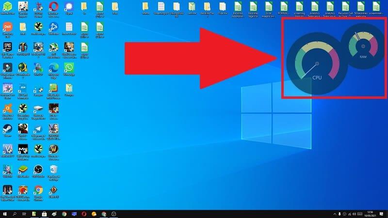 añadir widget ram y cpu windows 10.
