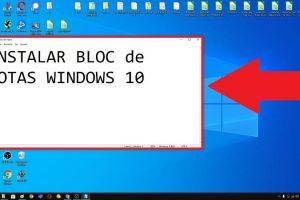 descargar bloc de notas windows 10.