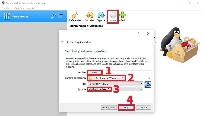 descargar windows 11 en virtual box.