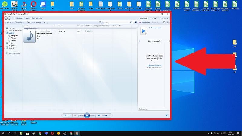 descargar reproductor windows media windows 10.