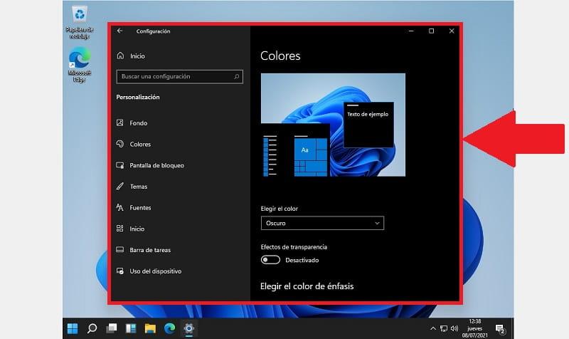 activar modo oscuro Windows 11.
