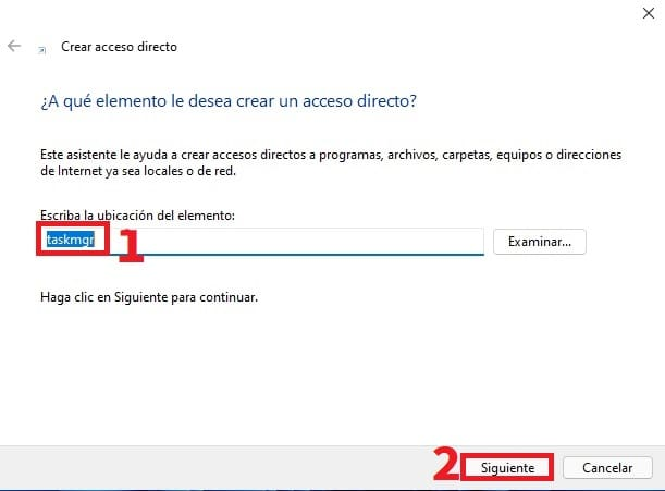 acceso directo taskmgr.