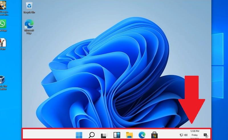 aumentar tamaño barra tareas windows 11.