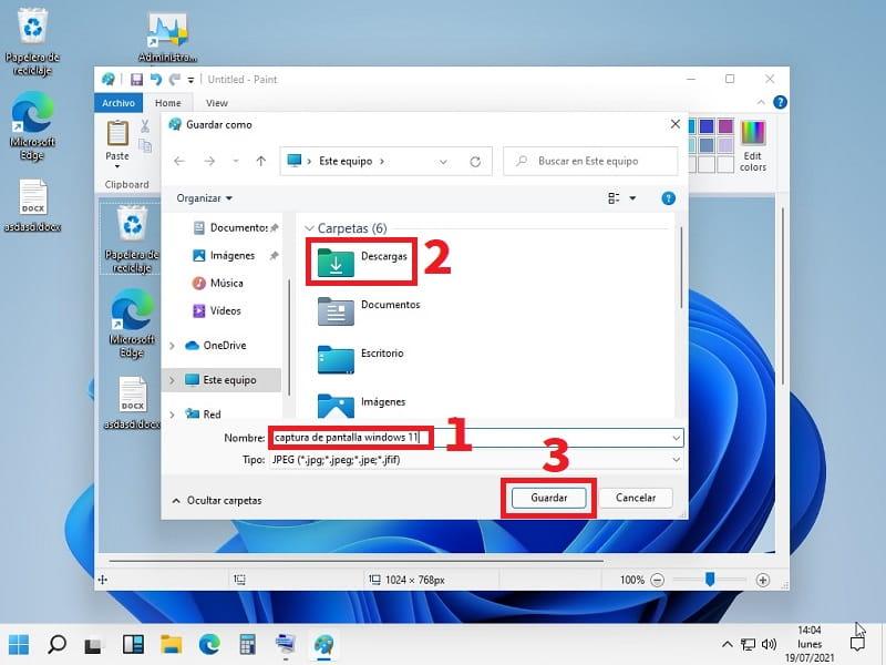 hacer captura de pantalla Windows 11.