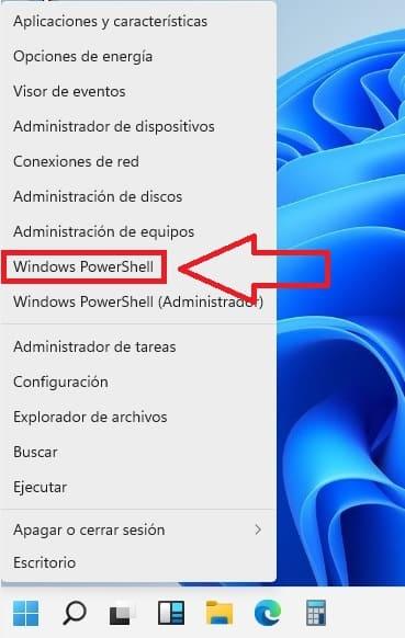 Windows 11 power shell.