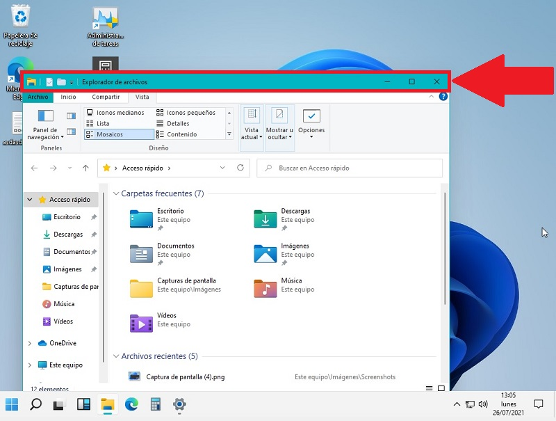 modificar el color del borde de la pantalla windows 11.