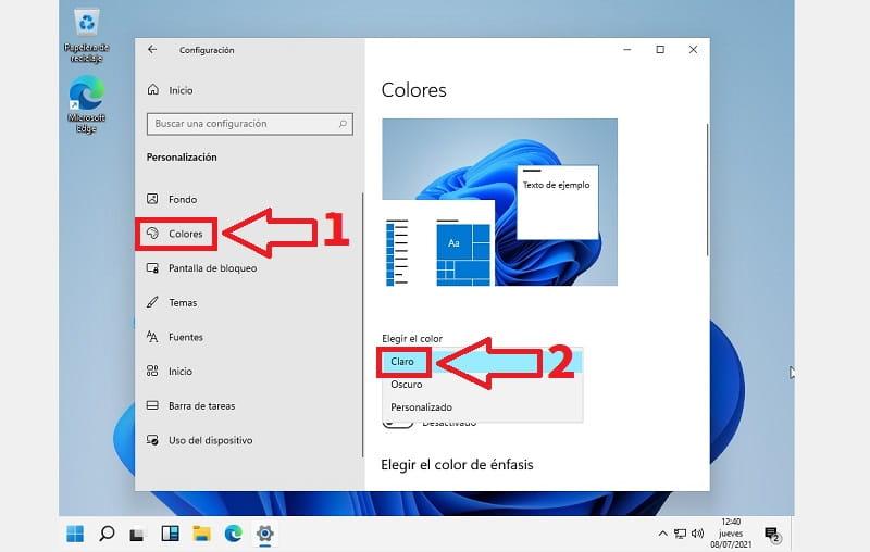 Windows 11 color.