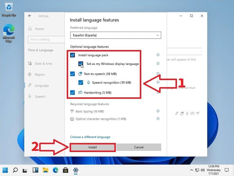poner español como idioma windows 11.