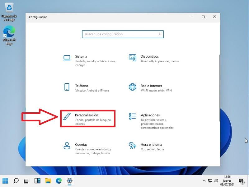 personalización Windows 11.
