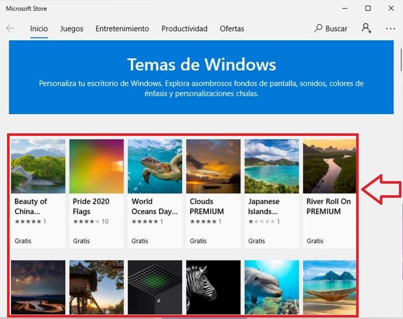 Windows temas.