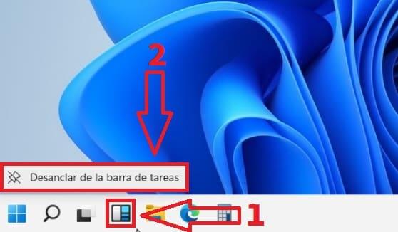 ocultar Widgets en Windows 11.
