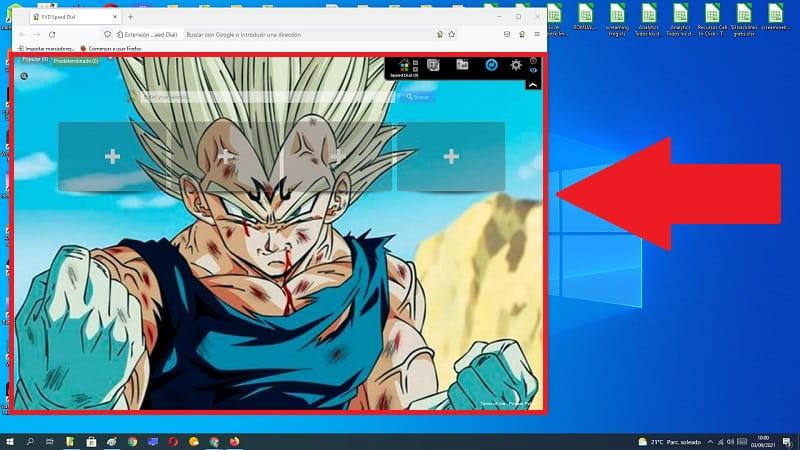 cambiar fondo de pantalla Firefox.