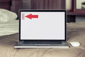 barra vertical en teclado portátil.