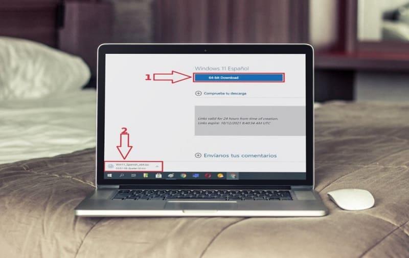 Descargar Win 11 en español desde la web de Microsoft.